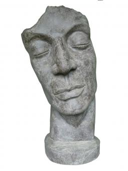 Face as sculpture, variant B is inclined to the left, 150 cm